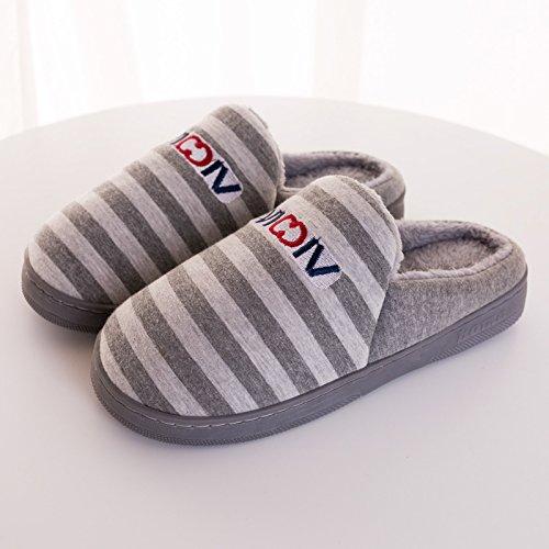 Inverno 43 Pacchetto Soggiorno Cotone Pantofole Residente Grigio Piedi 40 La Impermeabili Con Gli 41 Scarpe Femminile Sulle Coppia Peluche 42 Uomini Spessore Di Di Per wIYPxqPR5