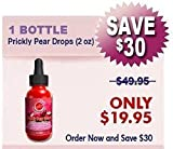 Nopal Cactus – (Prickly Pear) Whole Cactus Fruit Liquid Sublingual Drops Extract Tincture Herbal Supplement; 1 Month Supply (2 Fl. Oz) Quick Inflammation Response; Review