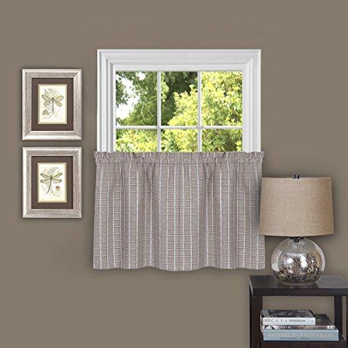 "Achim Home Furnishings Sydney Pair Window Curtain Tier, 58"""