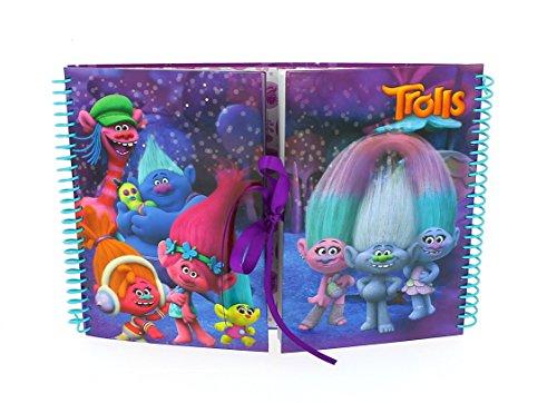 Officially Licensed Children's Trolls Movie Design Studio Scrapbook