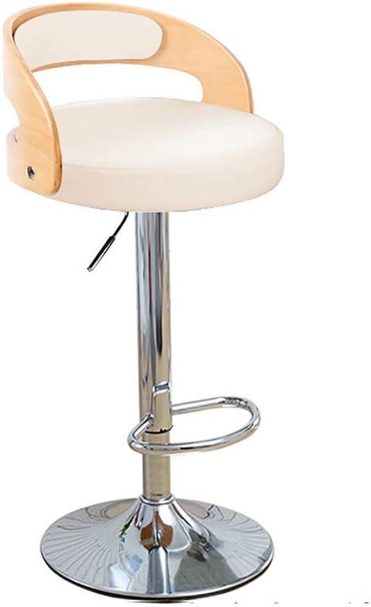 Barstoel, barkrukken voor keukens, faux lederen barkrukken verstelbare 360 graden draaibare rugleuning voetsteun barkruk E