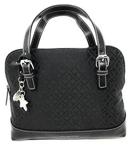 Tommy Hilfiger Womens Purse HandBag Pocketbook Satchel Bag Black