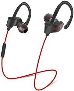Auriculares Auriculares Deportivos Auriculares Deportivos Auriculares inalámbricos Fone de ouvido sem fio Bluetooth Bass Headset con micrófono para Rojo