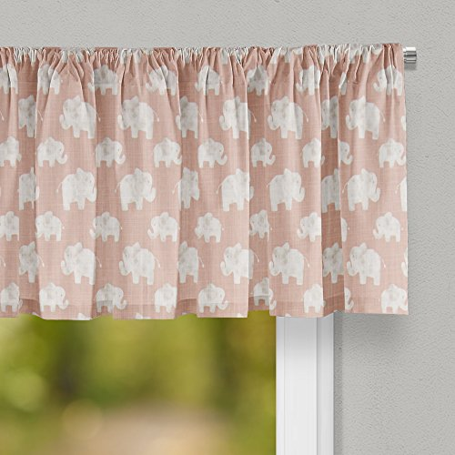 """Used, Glenna Jean Elephant Herd - Blush Curtain Valance 70""""W for sale  Delivered anywhere in USA"""