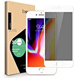 iPhone 8 7 6s 6 Privacy Screen Protector - ICHECKEY 3D Curved Anti-Spy Anti-Peeping Tempered Glass Screen Cover Shield for Apple iPhone 8/7/6s/6, 4.7 Inch – White