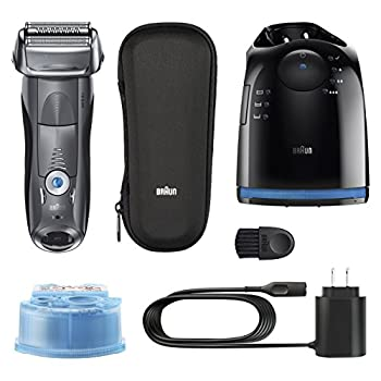 Braun Electric Shaver, Series 7 7865cc Men's Electric Razorelectric Foil Shaver, Wet & Dry, Travel Case With Clean & Charge System, Premium Grey Cordless Razor With Pop Up Trimmer 1
