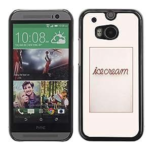Be Good Phone Accessory // Dura Cáscara cubierta Protectora Caso Carcasa Funda de Protección para HTC One M8 // Poster Text Message Food