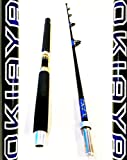 "OKIAYA COMPOSIT 50-80 Pound ""THE BEAST"" Portable SALTWATER Big Game Roller Rod Review"