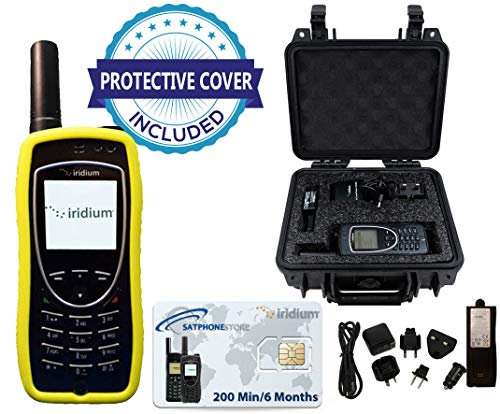 SatPhoneStore Iridium 9575 Extreme Satellite Phone Deluxe Package with Pelican Case, Protective Case & Prepaid 200 Minute SIM Card Ready for Easy Online Activation