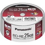 パナソニック 2倍速BRディスク片面1層25GB(書換) スピンドル30枚