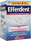 Efferdent Original Anti-Bacterial Denture Cleanser Tablets 126 ea (Pack of 11)