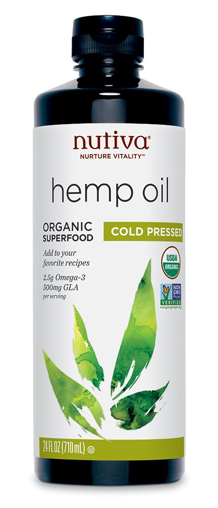 Nutiva Organic Cold-Pressed Unrefined Hemp Seed Oil, 24-Ounce