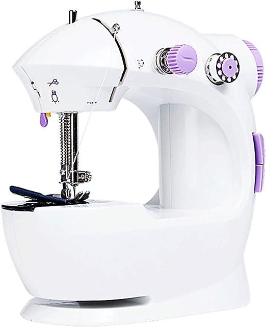 HEIFEN Máquina de Coser Mini pequeño Máquina de Coser eléctrica del hogar con el Pedal del pie máquina de Coser ...