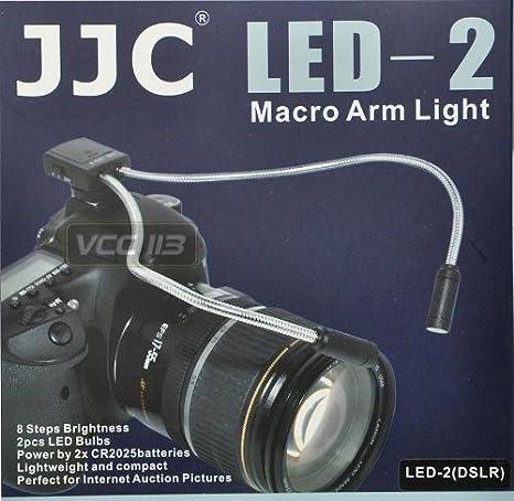 JJC LED-2 Macro brazo luz para cámara réflex digital Canon Nikon ...