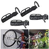 MKChung Bike Shop Wall Hook, 4pcs Mountain Bike Display Rack Bicycle Parking Hanging Rack Hook Type