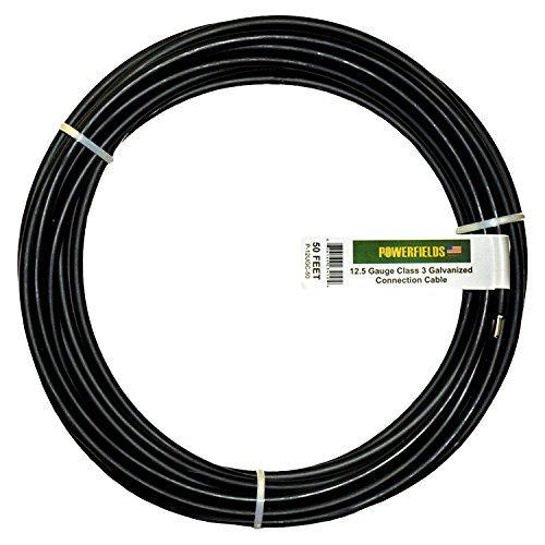 Powerfields P-16UGC-100 Ground Rod Connection Cable, Underground Class 3 Galvanized UV Double Insulated, 100-Foot, Black