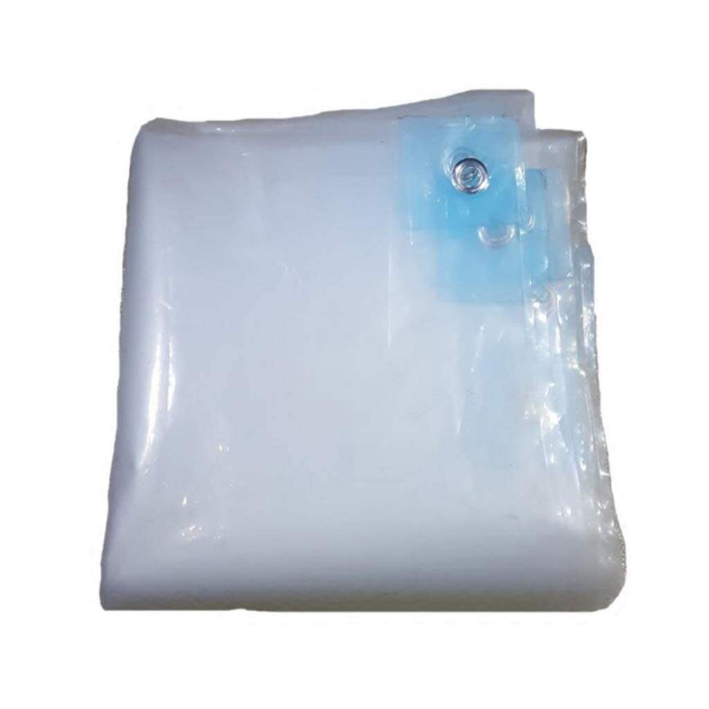 24M BÂche de Prougeection Toile Plastique Transparent épaissir étanche à La Pluie étanche Balcon Couvrant La Pluie Bloc Membranaire Tissu Isolation 3  3M (Taille   3  3M)