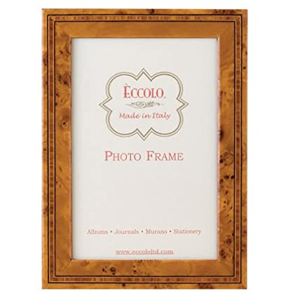 Amazon.com - Eccolo Made in Italy Marquetry Wood Frame, Burl Wood ...