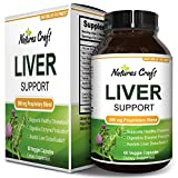 Natures Craft Liver Support Supplement with Milk Thistle Extract for Liver Detoxification 60 Veggie Capsules