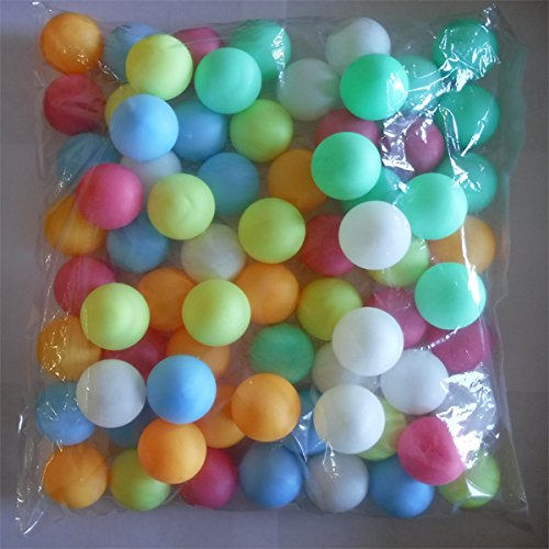 SUPER FUN 6 COLOR 40mm PING PONG BALLS - PACK OF 72