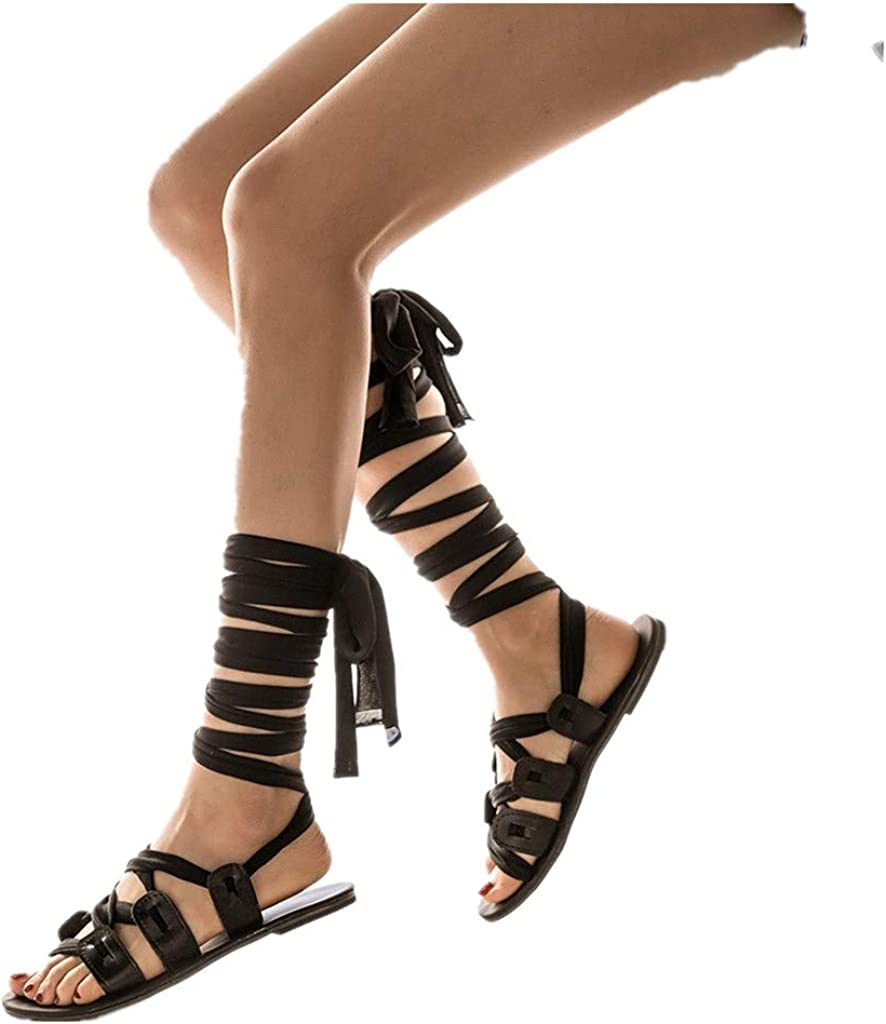 Hollow Out High-Heels Strappy Gladiator Sandals Roman Rope Women Shoes Laces New