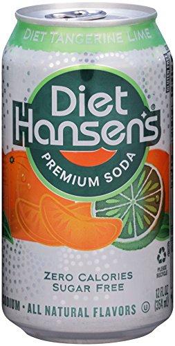 Hansen's Diet Soda Cans, Tangerine Lime, 12 Ounce (Pack of 24)