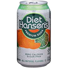 Hansen's Diet Soda Cans, Tangerine Lime, 12 Ounce (Pack of 24)