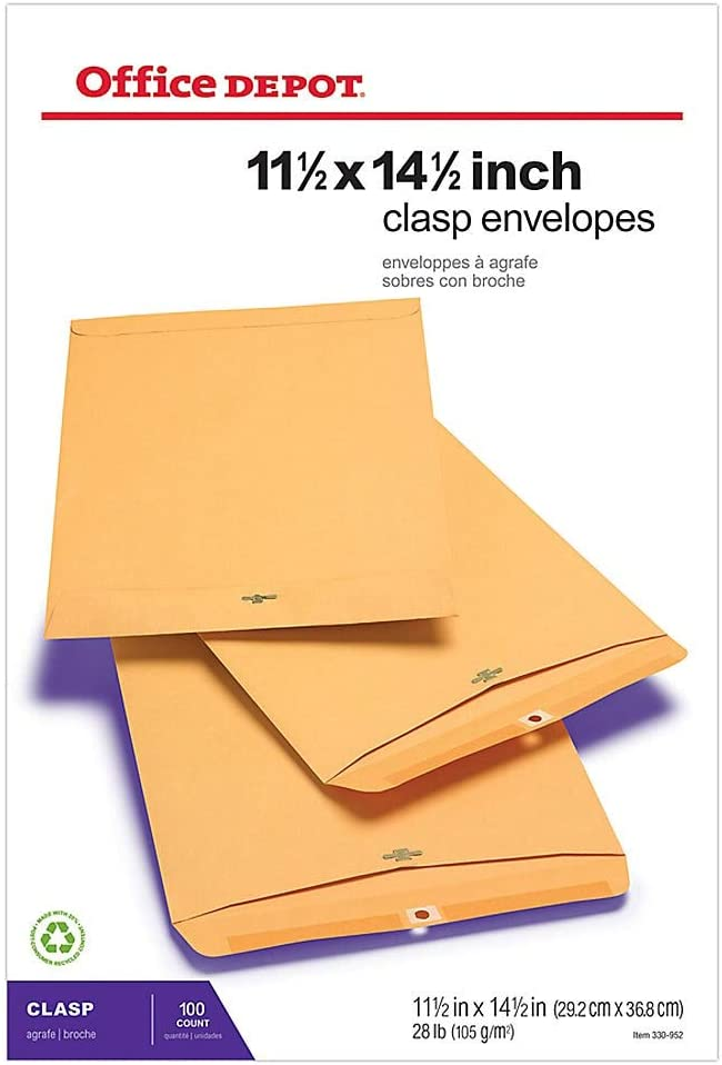 Clasp Envelopes 6 x 9 Brown Karft Paper 28Lbs 10 Boxes//100 1,000 Count