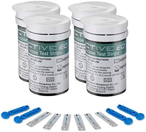 HARPIMER Glucosa en Sangre Kit Tiras de Prueba 100 Piezas de Monitor de azúcar en Sangre