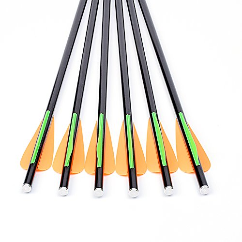 "12X 14/""//16/"" Crossbow Bolts Fiberglass Hunting Arrows Changeable Tips Flat Nocks"