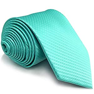 Shlax&Wing Solid Color Aqua Indigo Aquamarine Ties Mens Necktie Fahion Extra Long