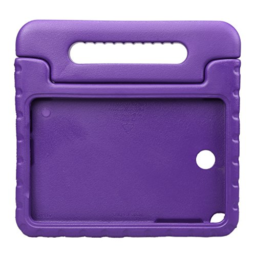 NEWSTYLE Samsung Galaxy Tab A 8.0 Shockproof Kids Case Light Weight Super Protection Cover Handle Stand for Children Samsung Galaxy Tab A 8.0-inch SM-T350 - Purple (Not Compatible with other models)