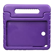NEWSTYLE Samsung Galaxy Tab A 8.0 Shockproof Case Light Weight Kids Case Super Protection Cover Handle Stand Case for Kids Children For Samsung Galaxy Tab A 8.0-inch SM-T350 - Purple Color