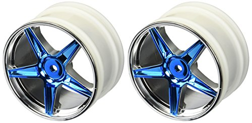 Redcat Racing Chrome Rear 5 Spoke Blue Anodized Rims (2 (Rear 5 Spoke Rim)