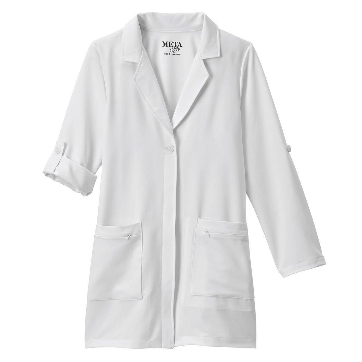 Meta Pro Labwear Women's 33''; Lab Coat White