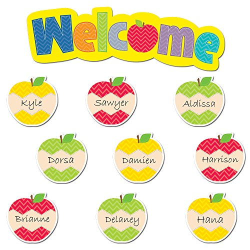 Creative Teaching Press HexaFun Welcome Apples Mini Bulletin Board Set -