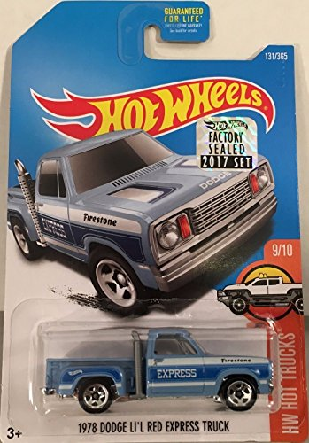 Mattel Hot Wheels Hw Hot Trucks - 1978 Dodge Li'l Red Express Truck (Blue) - Includes Factory Sealed 2017 Sticker on Card! 1978 Dodge Lil Red Express Truck