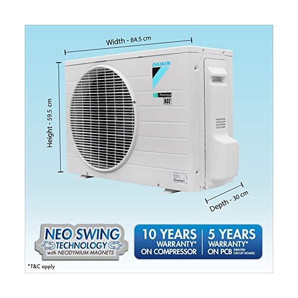 Daikin 1.8 Ton 5 Star Wi-Fi Inverter Split AC (Copper, Anti Microbial Filter, 2020 Model, FTKR60TV, White) 2021 July Split AC with inverter compressor: Variable speed compressor which adjusts power depending on heat load. It is most energy efficient and has lowest-noise operation 1.8 Ton Energy Rating: 5 Star: , Annual Energy Consumption (as per energy label): 989 units, ISEER Value: 4.7
