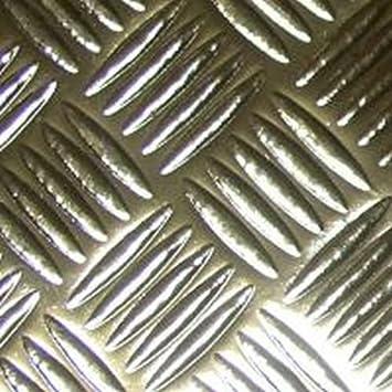 2mX67cm CHECKER PLATE SILVER CHECKERPLATE STICKY BACK PLASTIC SELF ADHESIVE VINY