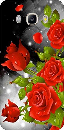 shengshou rose design mobile back cover for samsung galaxy j5 2016   red green   Green