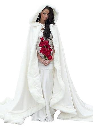 Winter Women Wraps Cape White Faux Fur Wedding Coat Suit Jacket ...