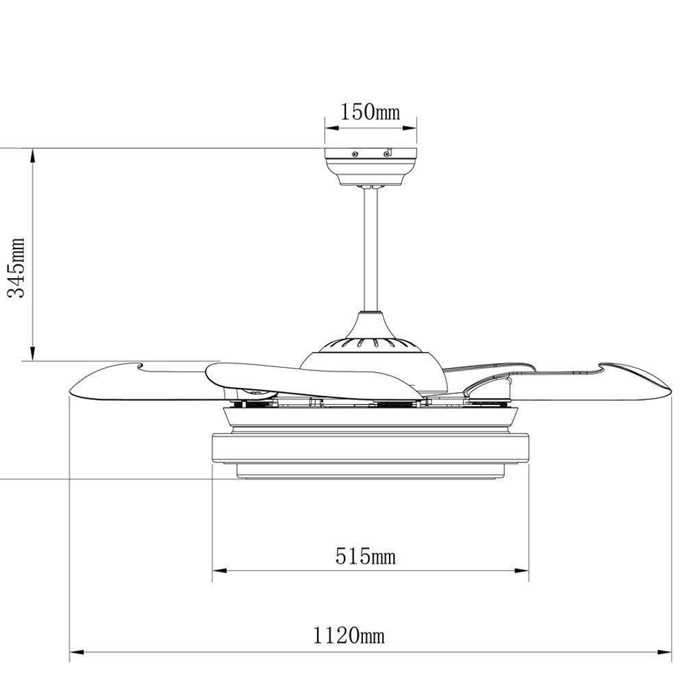 Blanco Wonderlamp Twin Ventilador de Techo 36 W