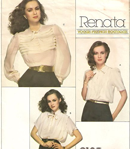 Vogue vintage sewing pattern - French Boutique designer - 2185 - set of blouses - Size ()
