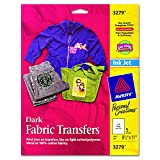 Electronics : Avery InkJet Iron-On Dark T-Shirt Transfers, White, Five Sheets per Pack (03279)