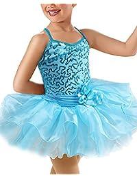 IMEKIS Girls Sequins Ballet Dress Dance Leotard Gymnastics Kids Princess Costume