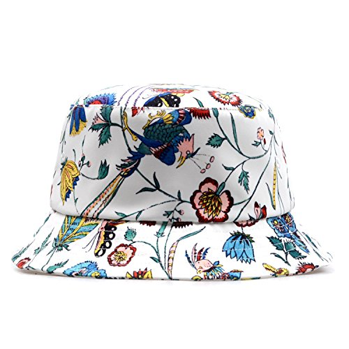 GP Accessories Trends Fashion Bucket Hat Large Digital Print Floral White