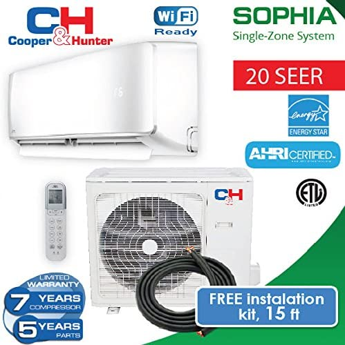 COOPER AND HUNTER Sophia Mini Split Heat Pump up to 22.8 SEER with on
