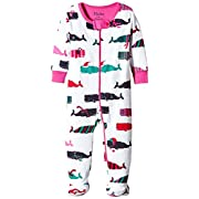 Hatley Kids Baby Girl's Scarf Whales Footed Coverall (Infant) White 0-3 Months