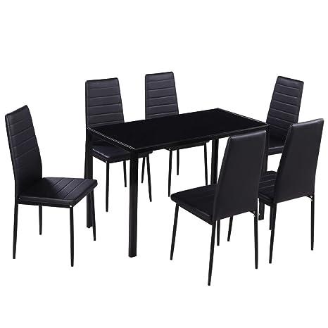 vidaXL Set Tavolo da Pranzo e Sedie Cucina Sala Colazione 7 Pezzi ...