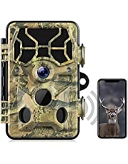 WiFi Trail Camera-Bluetooth 1296P 20MP Hunting Game Camera with Night Vision Motion Activated for Wildlife Monitoring Waterproof IP66